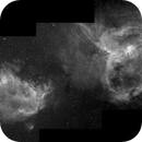 Heart Nebula and Soul Nebula, Three-Panel Mosaic, H-alpha, IC 1805 and IC1848,                                Eric Coles (coles44)