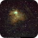 Sh2-206, SHO Hubble Palette with RGB Stars, 7-9 Nov 2018,                                David Dearden