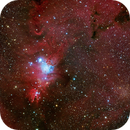 NGC 2264 (the Christmas Tree) and Open Cluster Trumpler 5,                                Wei-Hao Wang