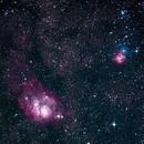 M8 Lagoon Nebula and M20 Trifed Nebula,                                Mike Ingalls