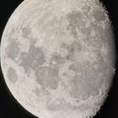 Lune gibbeuse ascendante du 17 janvier 2019,                                  Donnard Noël