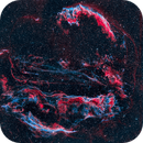 The Cygnus Loop in HOO - a 4 Panel Mosaic,                                Greg Nelson