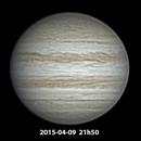 Jupiter 2015-04-09  T250 f4,                                Pulsar59