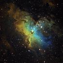 "M16 Eagle Nebula ""Pillars of Creation"" SHO Hubble Palette,                                Eddie_R"