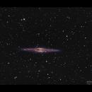 "NGC891 - second light with Meade 14"",                                  Göran Nilsson"