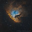APOD - 11/22/18 - NGC  281 - The Pac-Man Nebula in Bi-Color,                                  Jeremiah Roth
