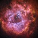 HaS2O3RGB - Rosette Nebula,                                  Min Xie