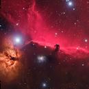 Horsehead and Flame nebula,                                Emmanuel