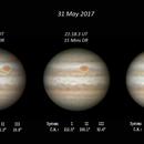 x3 Jupiter Composite - 31 May 2017,                                Geof Lewis