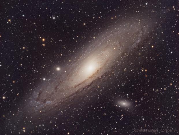 M31 The Andromeda Galaxy in HaLRGB,                                Eshan Toorabally