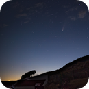 Moonset and comet Neowise,                                Máximo Bustamante
