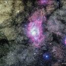 Lagoon Nebula and Trifid Nebula,                                Nicole Mortillaro