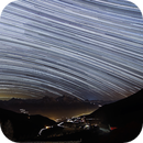 Star Trails on Val D'Aosta,                                astrotaxi