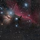 Horsehead ( Barnard 33) and Flame nebula area,                                  Paul May