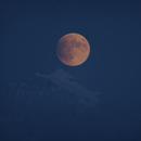 Blue hour: Moon behind Jungfrau, partial eclipse, penumbra phase,                                Martin Mutti