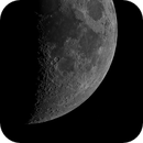 Moon with lovely craters on the terminator,                                James Muehlner