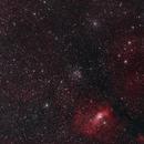 M52 and NGC 7635 Bubble Nebula,                                Berry