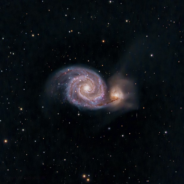M51 C6 with Starizona Corrector III, Hypercam 26c,                                AstroBillUK