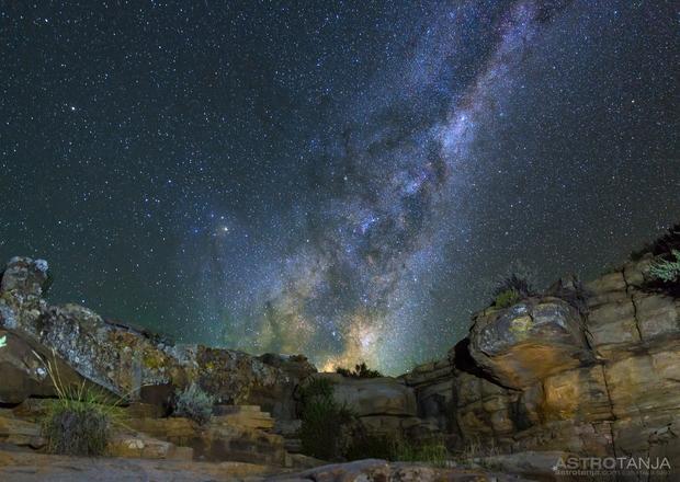 Milky Way Rising,                                AstroTanja