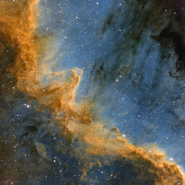 The Great Wall in NGC 7000,                                John Hayes