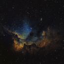 NGC 7380 / Sh2-142: The Wizard in SHO,                                Uwe Deutermann
