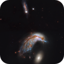 Colliding Galaxy Pair Arp 142 - NGC 2936 and 2937 - Hubble :-),                                Daniel Nobre