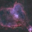 The Heart Nebula in HOO,                                PauRoche