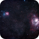 Messier 8 - NGC6523 - Lagoon Nebula and Cluster, Messier 20 - NGC6514 - Trifid Nebula,                                Geoff Scott