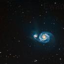 M51 - a more detailed Whirlpool ,                                Ewam