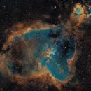IC 1805 Heart nebula in SHO,                                Piet Vanneste