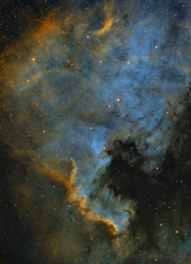 NGC7000 - La nébuleuse de l'Amérique du Nord,                                ZlochTeamAstro