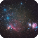 """Colourful Orion's Belt and Sword (or in Australia, we see """"The Saucepan""""),                                Greg Bock"""