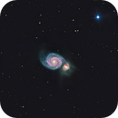 Whirlpool Galaxy,                                Bradley