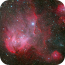 IC 2944, the Running Chicken Nebula,                                Wei-Hao Wang