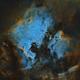 North America + Pelican Nebula - 4 Panel Mosaic,                                Bill Long