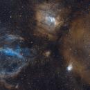 NGC 7635 - Three piece mosaic,                                Samuli Vuorinen