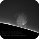 Quiescent prominence with coronal cavity, producing disruptive plume,                                Jim Ferreira