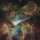 Carina and Gabriela Mistral nebulae (5 panel mosaic, Hubble Palette),                                Todd