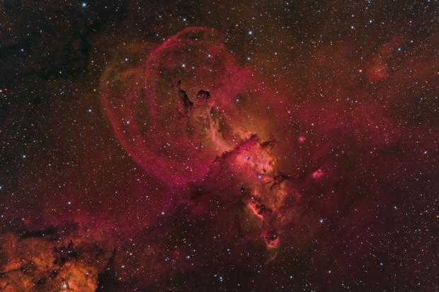 Statue of Liberty Nebula (NGC 3576),                                Brian Peterson