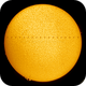Solar ISS Transit [0.5A Hα] - February 2, 2020,                                Brent Newton