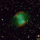 m27 - Dumbbell Nebula C8,                                JerryB Horseheads NY