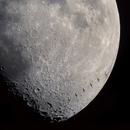 Moon and ISS with Crew Dragon docked,                                Gianluca Belgrado