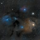 Antares and rho Ophiuchi Nebula,                                cdavmd