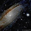M 31, central part of Andrómeda and M32,                                Julián Simón