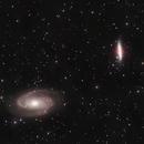 M81 (NGC3031) Bode's Galaxy and M82 (NGC3034) Cigar or Starburst Galaxy,                                Alastairmk