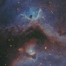 IC1848 Bicolor Hubble IR Style Palette,                                Christopher Gomez