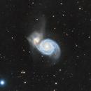 M51 Whirlpool Galaxy - Wide field,                                Rhett Herring