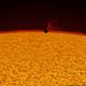 Mercury transit - first contact (H-alpha) - 09.05.2016,                                Łukasz Sujka