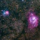 M8 and M20, Lagoon and Trifid, Close up,                                Björn Hoffmann