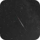 Bright Perseid meteor and it's smoke trail,                                Astronominsk
